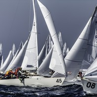 Caption: Against the grain at the J/22 Worlds Credits: Paul Todd