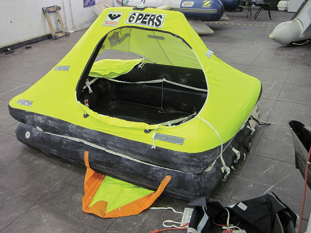 Maintaining a life raft